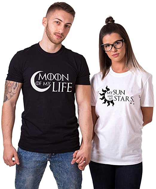 King Queen Camiseta Pareja 100% Algodón Shirt Blanco Negro Impresión T-Shirt Manga Corta Camisa Básica para Mujer Hombre Regalo: Amazon.es: Ropa y ...