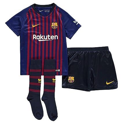 5bd278d41 Official Nike Barcelona Home Mini Kit 2018 2019 Infants Blue Football Soccer  Strip 3-4