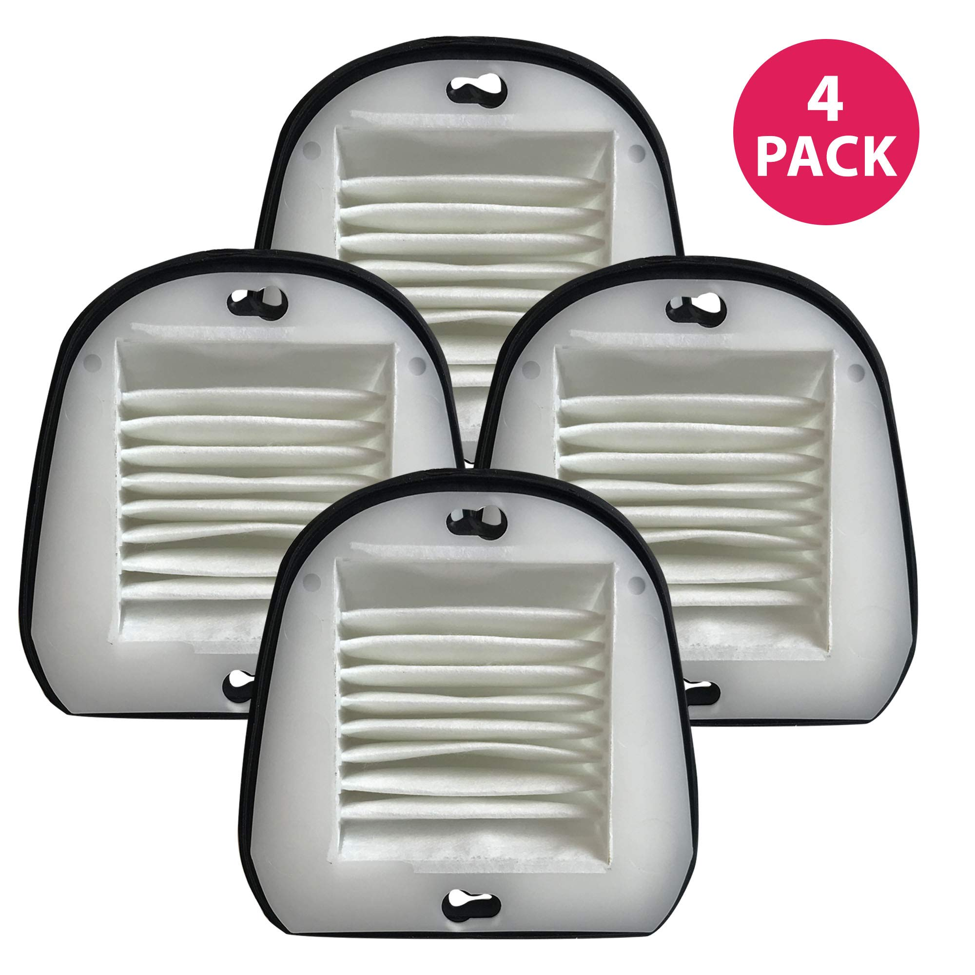 Crucial Vacuum Air Filter Replacement - Compatible with Black & Decker Part # 48G7, 2031473 203-1473 and Black & Decker VF20 Filter Fits Dustbuster - Washable, Reusable, Lightweight Filters (4 Pack)