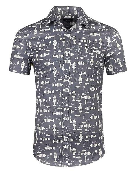 precio loco precio al por mayor calidad autentica NUTEXROL Camisa de Hombre Camisas Hawaianas Camisas Estampadas de Hombre  Camisa de Verano con Diseño de Playas, Camiseta Casual de Manga Corta, ...