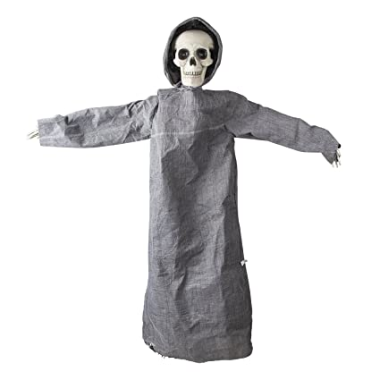 ki store halloween decorations animated hanging grim reaper haunted house decoration prop for yard garden house