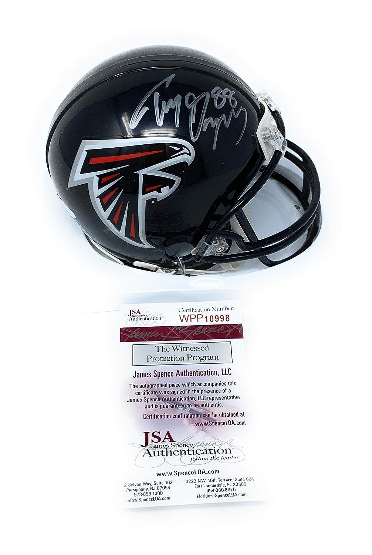 Tony Gonzalez Atlanta Falcons Signed Autograph Mini Helmet JSA Witnessed Certified