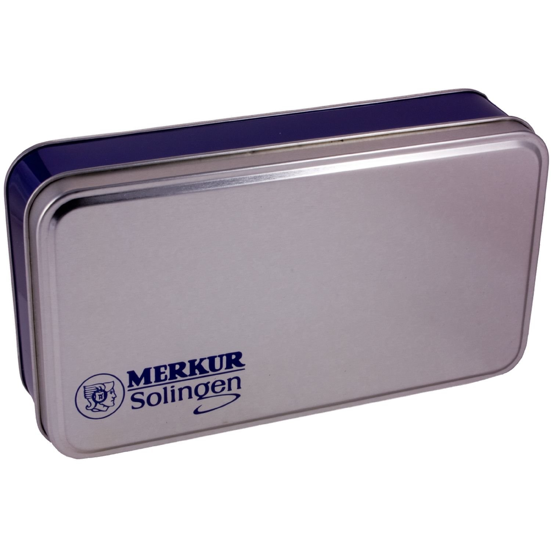 Merkur Futur Adjustable Safety Razor Gift Tin & Blades - Polished