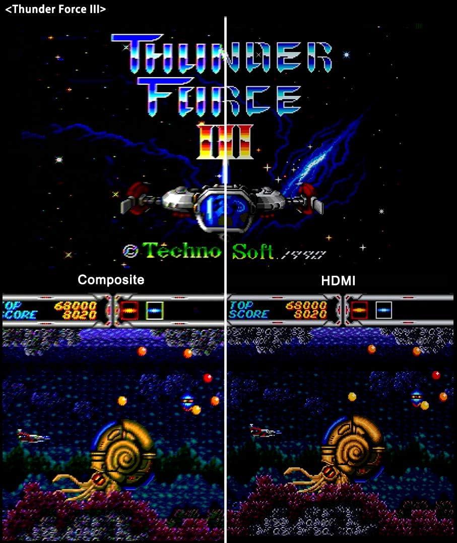 HDMI Cable for Sega Genesis Model 1 / 2 / 3, Sega CD, Sega CDX, Sega 32X, Sega Nomad, Original Sega Master System Console: Electronics
