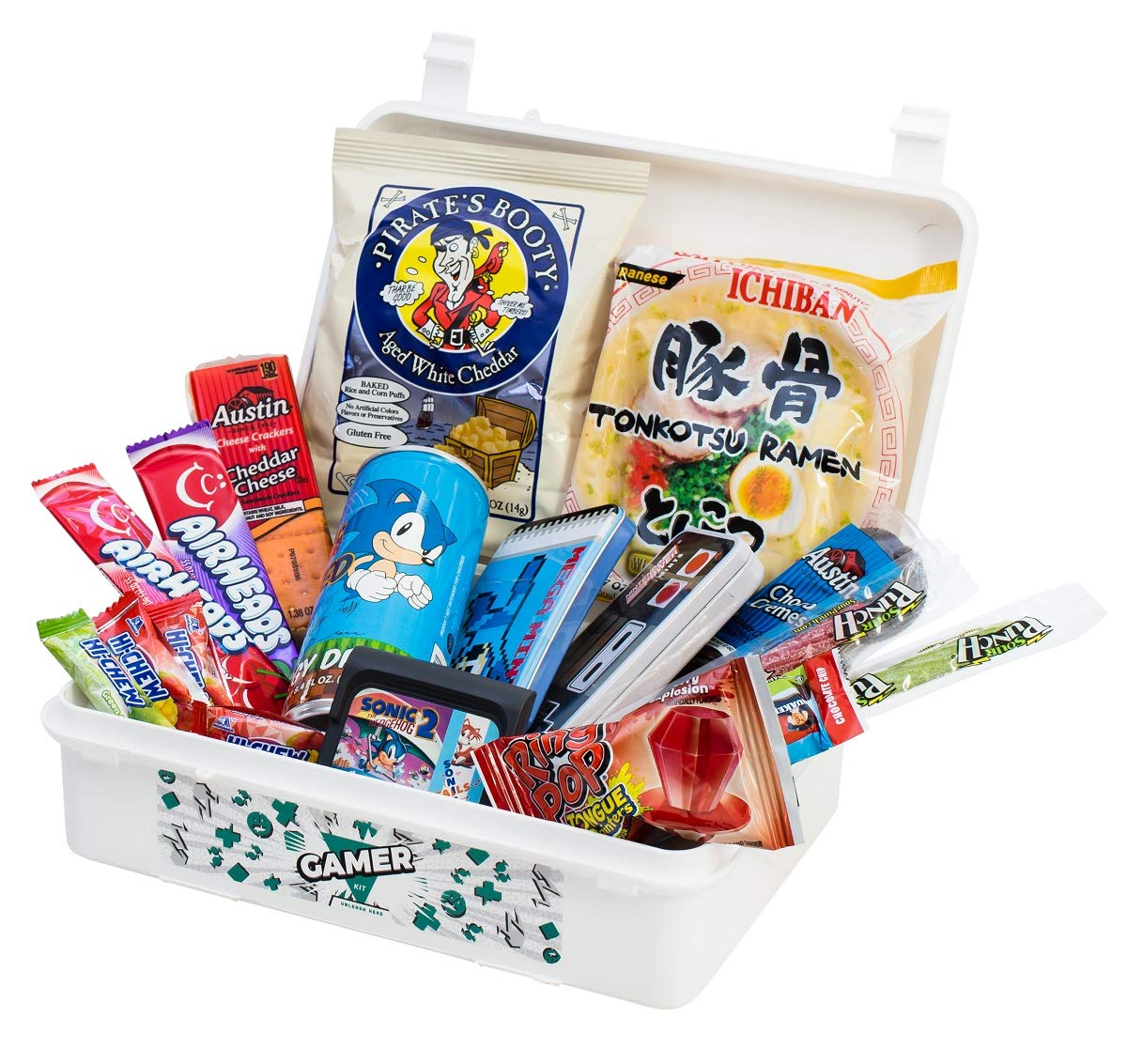 HANGRY KIT - Gamer Kit - Hard Plastic Resealable Case - Snacks Variety and Gift Assortment