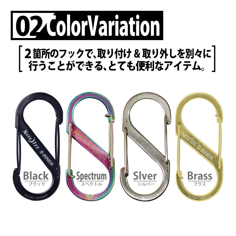 Size-4 NITE IZE INC SB4-03-07 Spectrum S-Biner