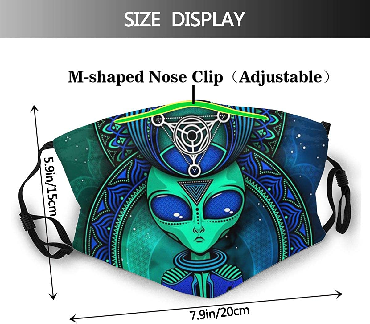Protective Turquoise Turtle Turquoise Sparkles Filter Mouth Face Towel Air Anti Dustproof Outdoors Head Scarf