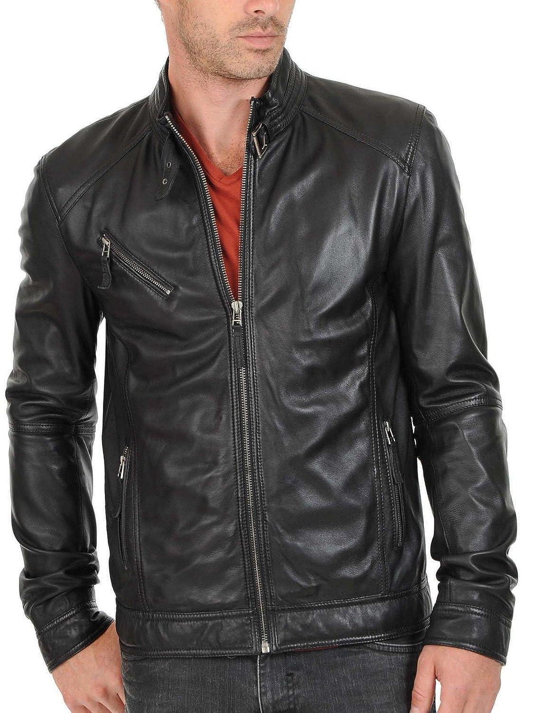 Laverapelle Men's Lamb skin Real Leather Jacket Black - 1510125