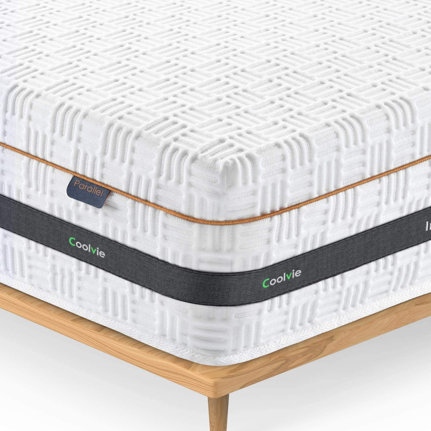 Coolvie Twin Mattress,10 Inch Hybrid Single Mattress in a Box, Gel Memory Foam for Sleep Cool, Motion Isolating Individually Wrapped Coils,Supportive & Pressure Relief,Twin Size