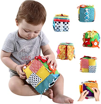 Baby Learn to Dress Cube Learning Toys Early Education Skills Teaching Toy Plush