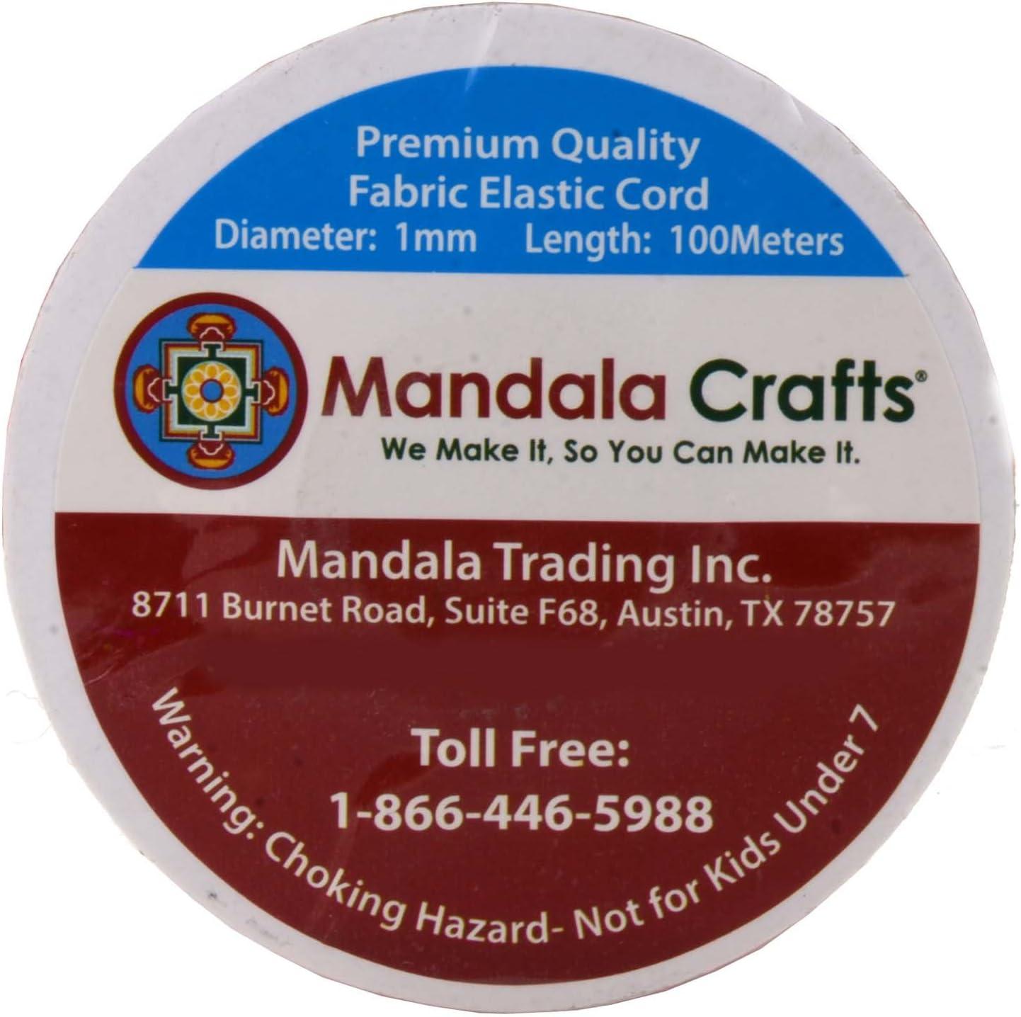 Masks Jewelry Making Off-White, 2mm 76 Yards Beading Necklaces Mandala Crafts Elastic Cord Stretchy String for Bracelets