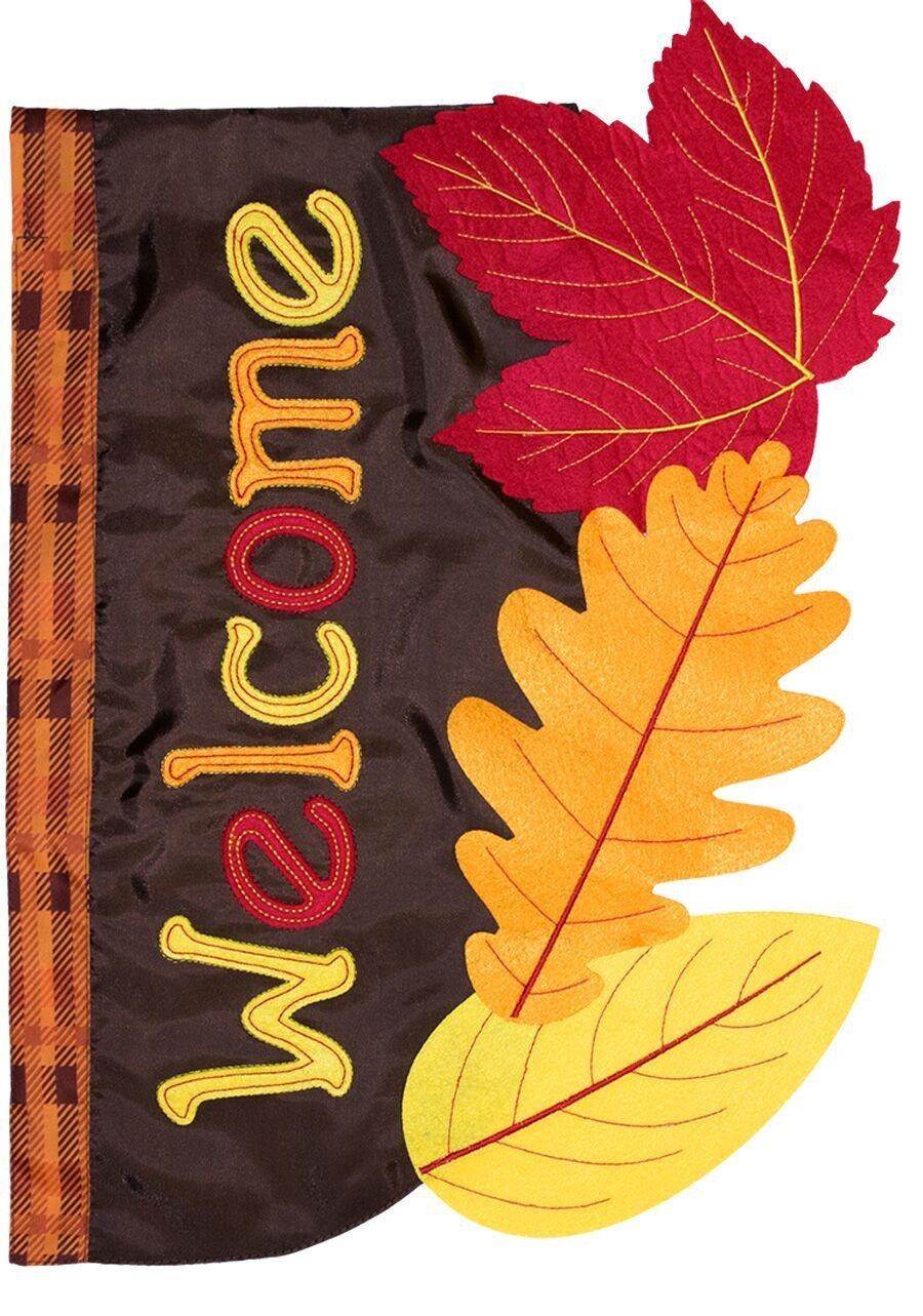 Briarwood Lane Fall Leaves Applique Garden Flag Autumn Colored Leaf 12.5'' x 18'' by Briarwood Lane (Image #2)