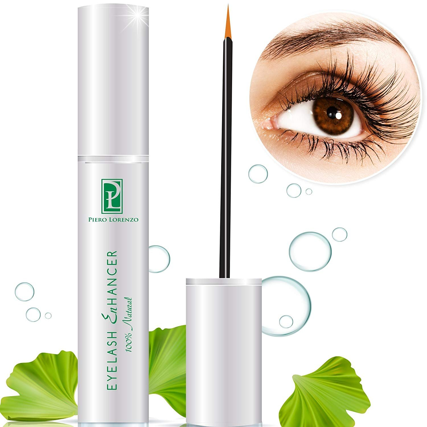 Natural Extract FEG Eyelash Growth Serum Eyelash Enhancer for Longer, Thicker, Fuller Eyelash Piero Lorenzo