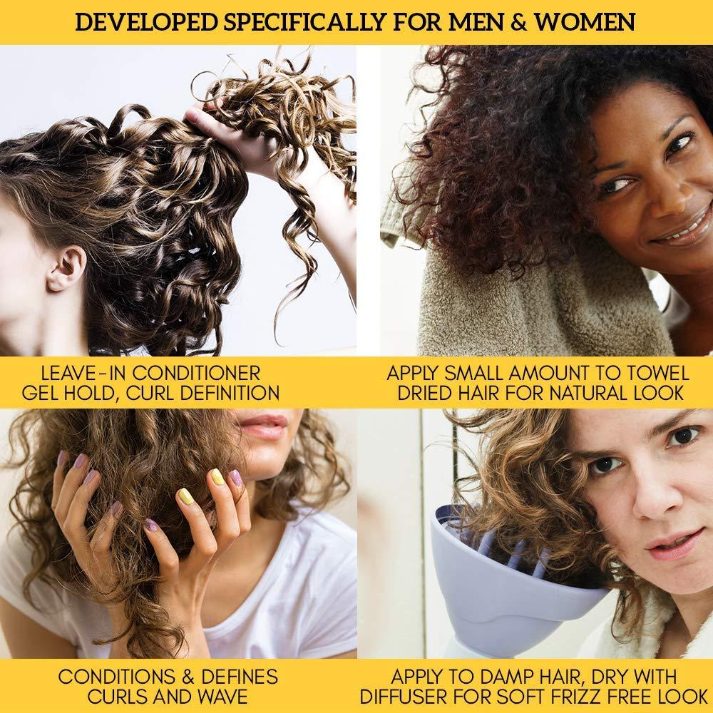 Amazon Com Curl Cream Gel By Royal Locks Professional Curly Hair