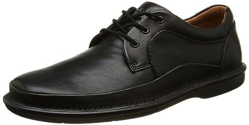 15ecb419b29823 Clarks Butleigh Edge - Scarpe Stringate Uomo, Nero (Black Leather), 44.5 EU