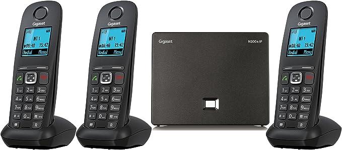 Doble teléfono inalámbrico de Gigaset, A540 IP Voip DECT (liGO Bundle): Amazon.es: Electrónica