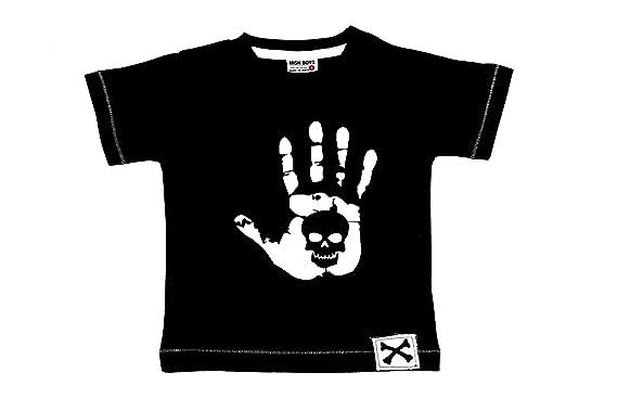 6efb87e03 Amazon.com  Mish Mish Boys T-Shirt Handprint Skull  Clothing