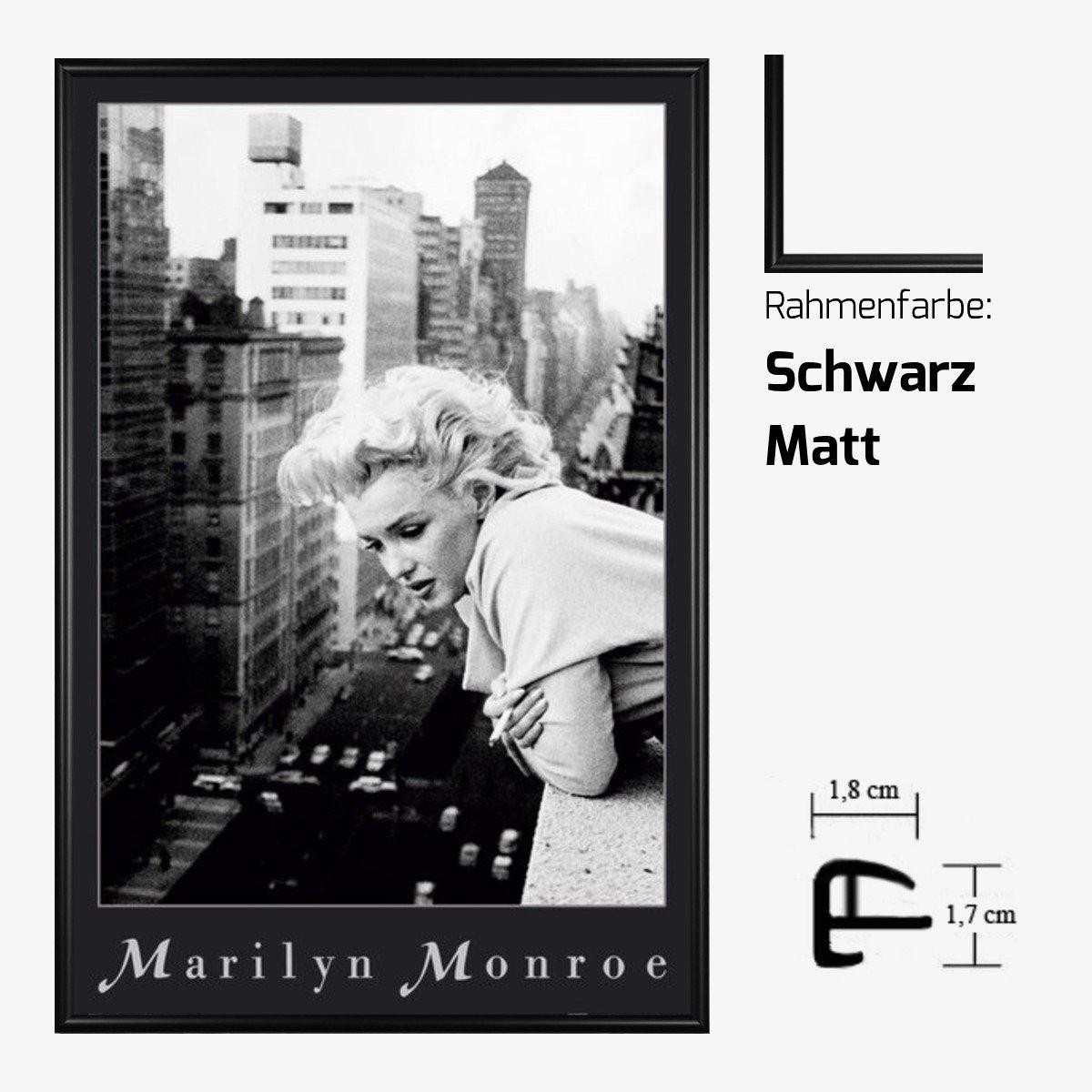 Kunstdruck Poster - Marilyn Monroe Balcony Balkon 61 x 91,50 cm mit ...