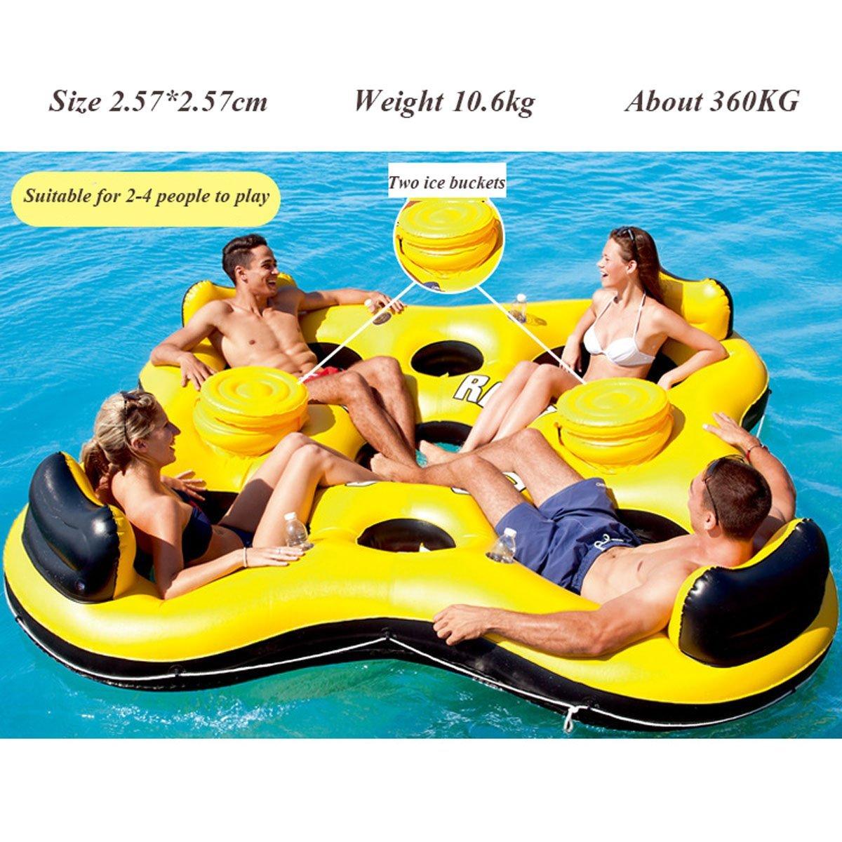 Nadar Juguetes para Fiestas Balsa Inflable Flotar Fila Playa ...
