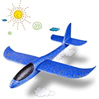 SQUIDSY Hand Throw Foam Airplane, Flying Glider Plane for Kids Outdoor Sports Aircraft Toy,USB Electric Rechargeable Aircraft Model (Random Color)