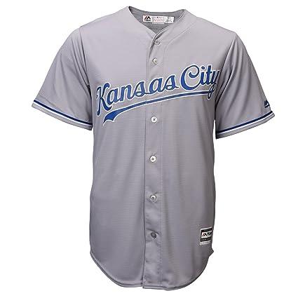 c16a28a3d Amazon.com   Majestic Kansas City Royals Road Grey Cool Base Mens ...