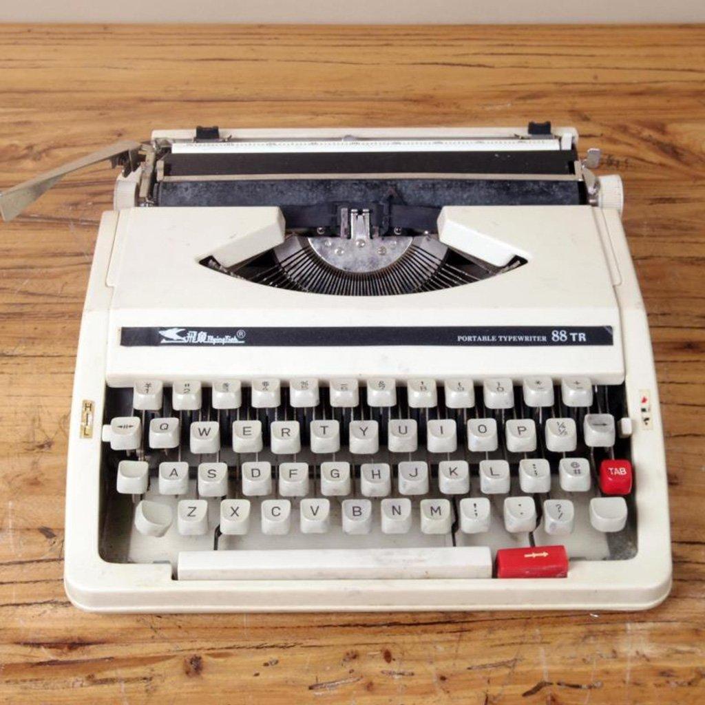 Máquina de escribir Typewriter, 80 s Retro Antique Vintage English Typewriter Normal Use Portable: Amazon.es: Hogar