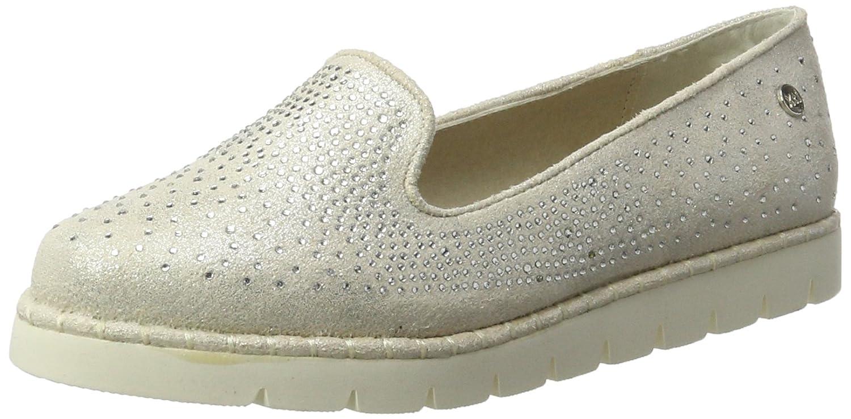 Womens Ice Metallic Textile Ladies Shoes Moccasins Xti ato43