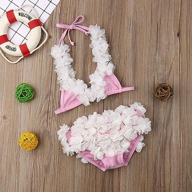 Amazon.com: Traje de baño para niñas y bebés, diseño floral ...