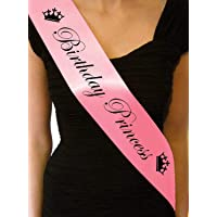 Chocozone Skylofts Birthday Princess Sash for Girls Birthday Party Props