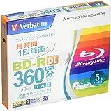 三菱ケミカルメディア Verbatim 1回録画用 BD-R VBR260YP5V1 (片面2層/1-4倍速/5枚)