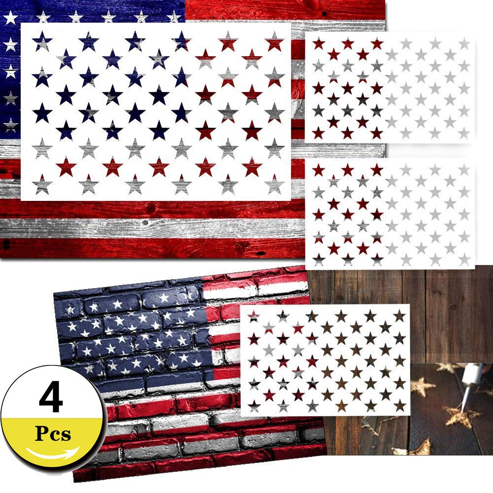Star Stencil 50 Stars American Flag Stencils For Painting On Wood