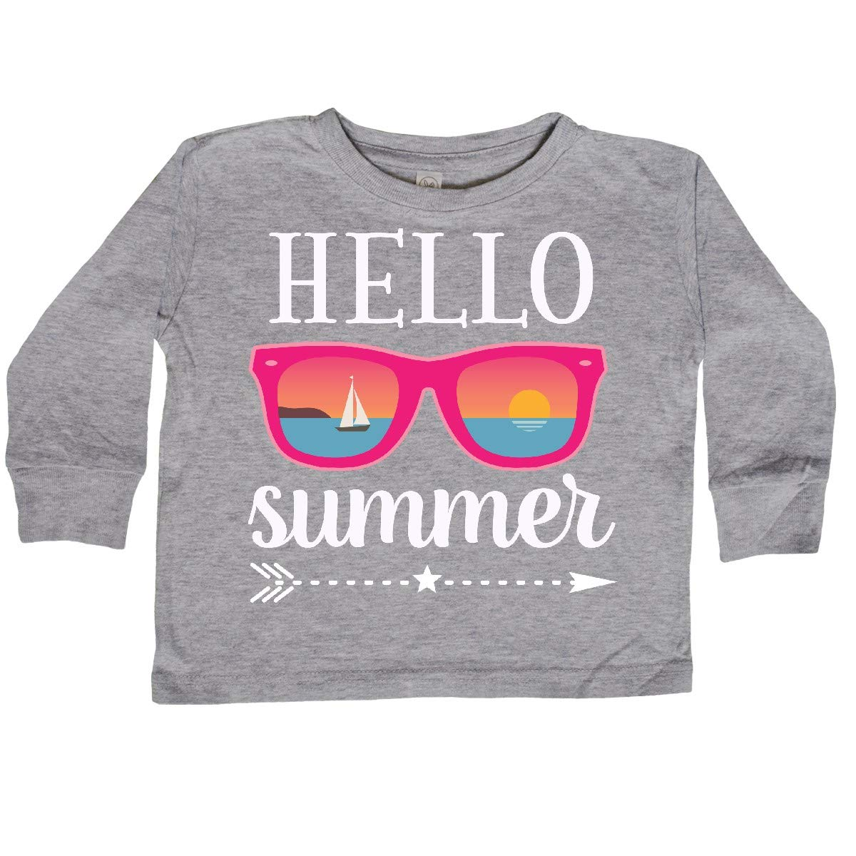 inktastic Hello Summer Vacation Sunglasses Toddler Long Sleeve T-Shirt