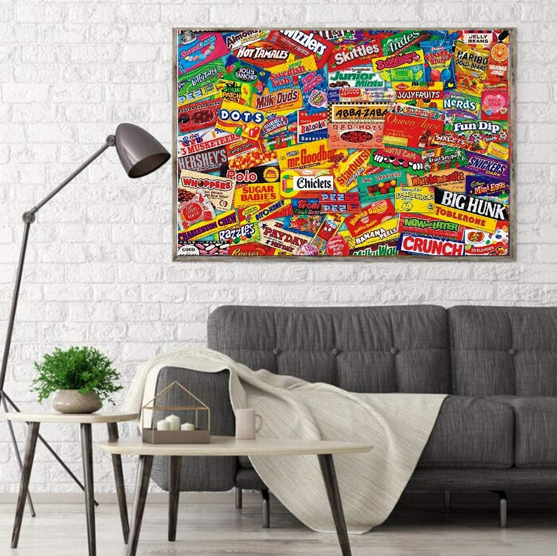 Large Puzzle Game Artwork for Adults Candy Puzzle OPATER Jigsaw Puzzle 1000 Piece