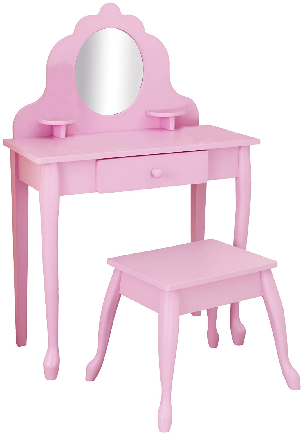 Pink medium diva table stool vanity make up girl play room wooden every little girl needs a vanity table geotapseo Images