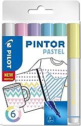 "PILOT PINTOR F - 6er Set ""Pastell"""