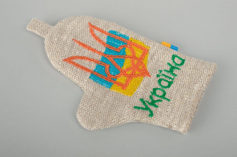 Iman para la nevera hecho a mano de lino con bordado Manopla ...