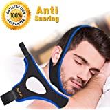 Stop Snoring Chin Strap, Anti Snoring Chin Strap Anti Snoring Devices Comfortable Snoring Reduction Relief Snore Stopper Sleep Aid for Better Breath Men Women Kids