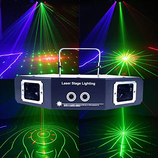 Luz LED 4 patrones lente del proyector del disco de DJ Mini ...