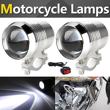 TUINCYN Motorcycle LED Spotlight 30W CREE U2 U3 Spot Light with Aliminium Alloy Housing 6000K 1-pack 7000K Bright Motor Running Light Lamp Beam Light