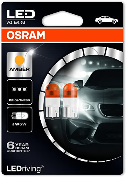 2x OSRAM LEDriving W5W 501 12V W2.1x9.5d Warm White 4000K Wedge Bulbs 2850WW-02B