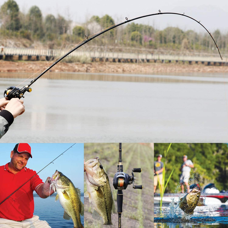 ca/ñas de fundici/ón de fibra de carbono y spinning peso ligero y ultra sensible Sougayilang Ca/ña de pescar varillas de trucha de doble punta
