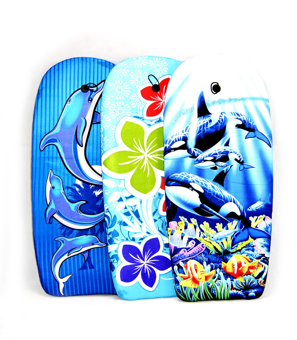 EPS Body Board//Tabla Surf 94 CM-Dibujo delfines-Cocovery19: Amazon.es: Deportes y aire libre