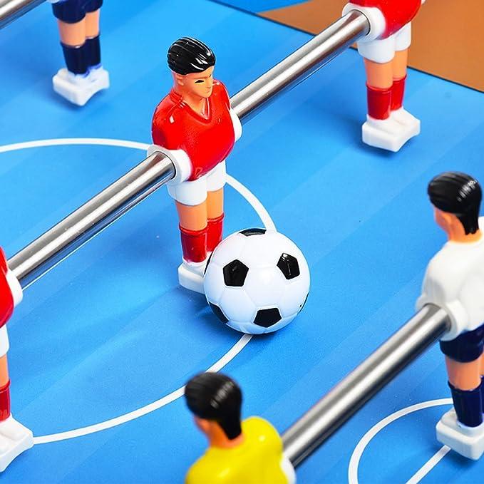 Flowing Water Mini Fútbol De Escritorio, 6-Bar Familia Fútbol Juego Fútbol Tabla Deportes Mesa, Fútbol De Madera Juguetes Niños Y Adultos Juegos De Juguete De Fútbol: Amazon.es: Deportes y aire libre