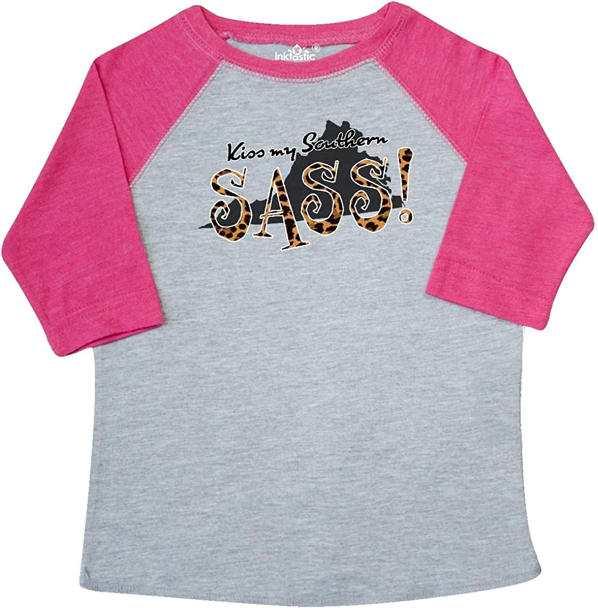 inktastic Virginia Kiss My Southern Sass in Leopard Print Toddler T-Shirt