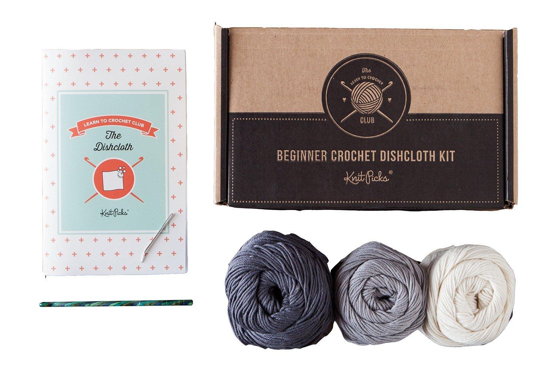 Neutral Learn to Crochet Kit  Dishcloth (Neutral)