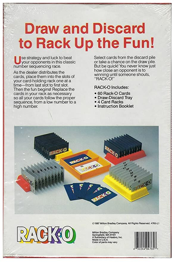 Rack O Rack Up The Highest Score In This Card Game 1987 Card