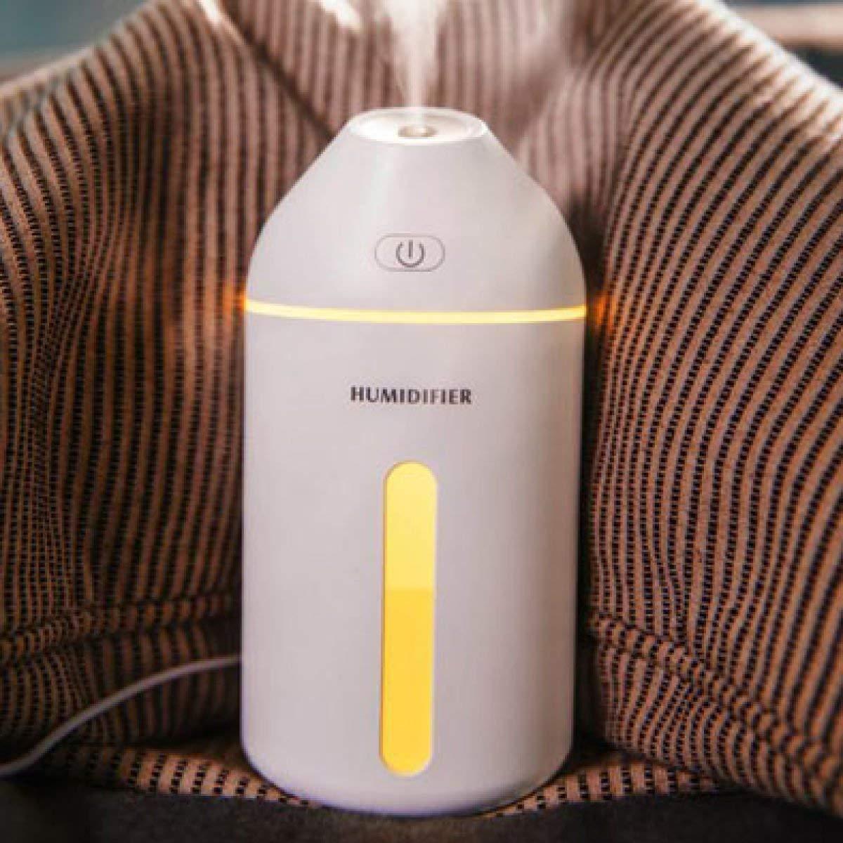 アロマディフューザーUSB車のアロマセラピーマシンホームオフィスの加湿器の加湿器ポータブルホームミュートあなたの空気補充スプレー、ブルー - 320ML (色 : White-320ml, サイズ : -)  White-320ml B07Q993ZPQ