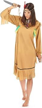 Disfraz de india pálida para mujer Talla única: Amazon.es: Juguetes ...