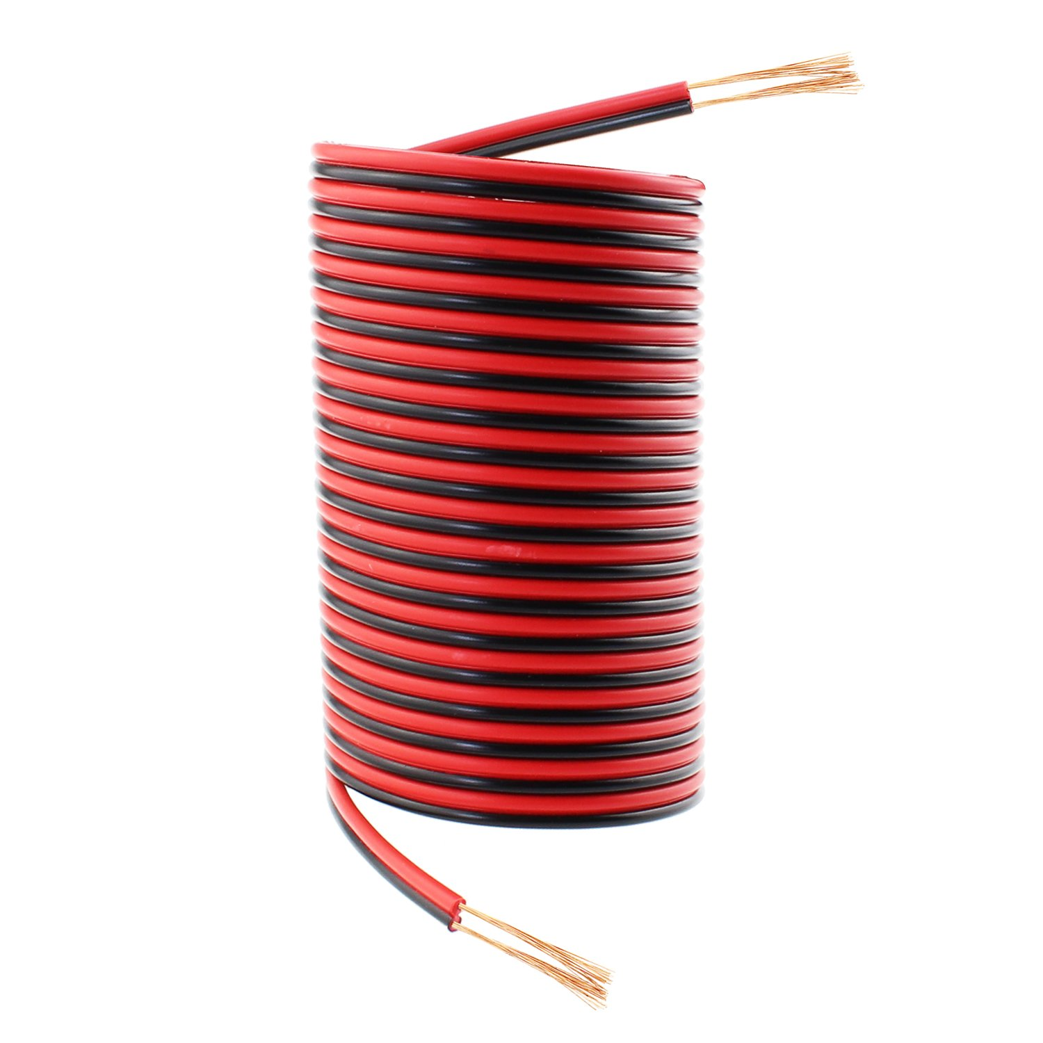 18 Gauge 50Ft Red Black Hookup Electrical Wire, SIM&NAT 18 AWG Extension Copper Audio Cord Speaker Cable for LED Ribbon Lamp Light