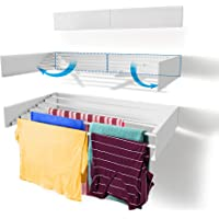 Step Up Laundry Drying Rack, Wall Mounted, Retractable Clothes Drying Rack, 40lbs Capacity, 11.6 Linear Ft, with Wall…